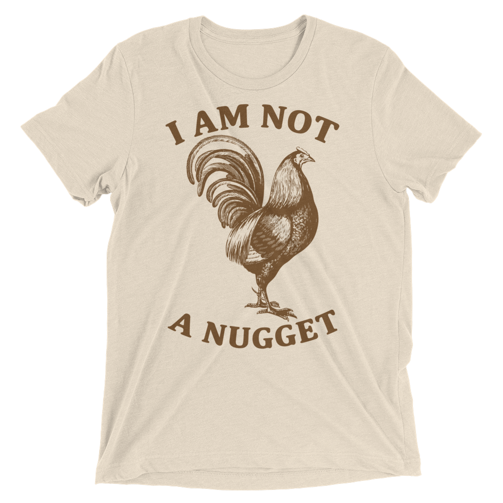 Vegan T-Shirt - I am not a nugget - Oatmeal
