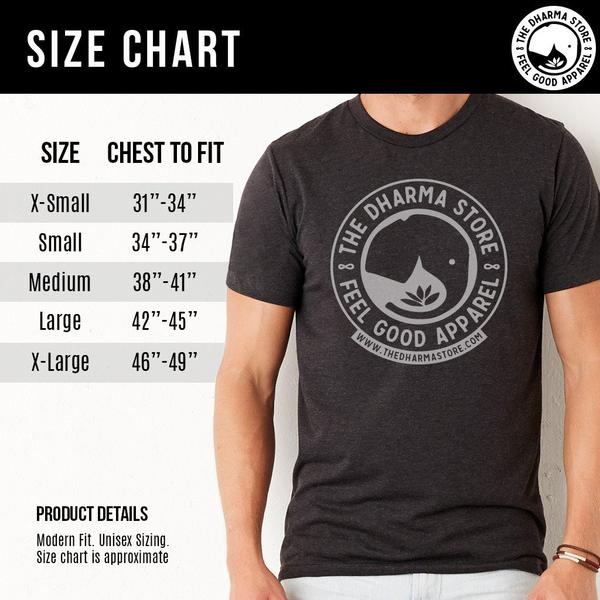 Men Sacred Geometry Shirt Size Chart