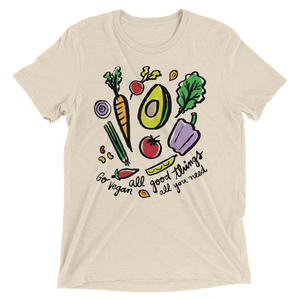 Vegan Shirt - All Good Things - Oatmeal