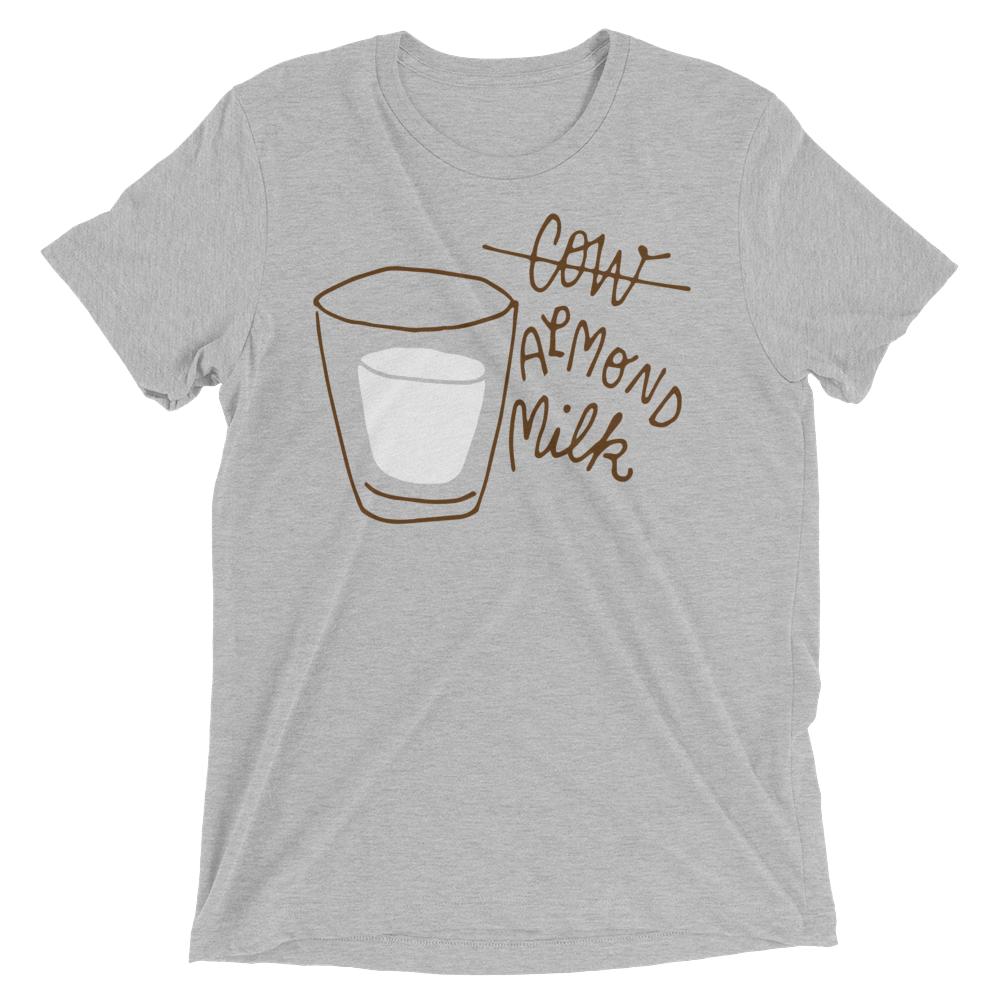 Vegan T-Shirt - Almond Milk - Athletic Grey