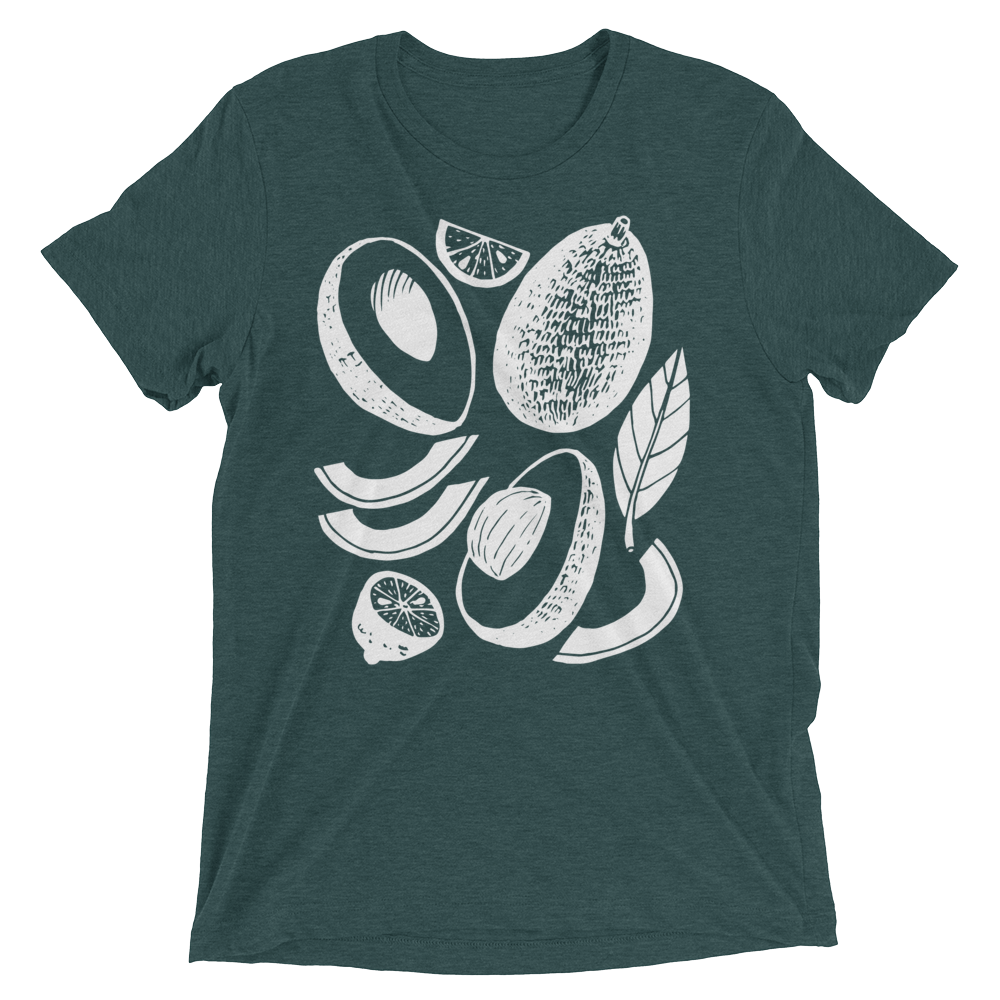 Vegan T-Shirt - Avocados - Emerald