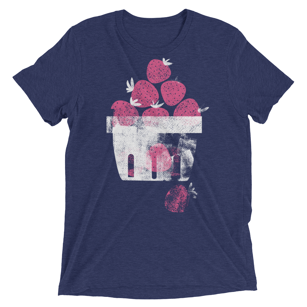 Vegan T-Shirt - Berries - Navy