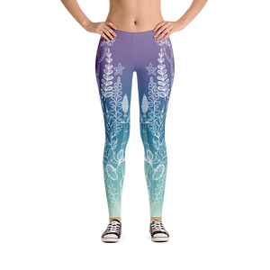 Vegan Leggings - Bloom Within - Front