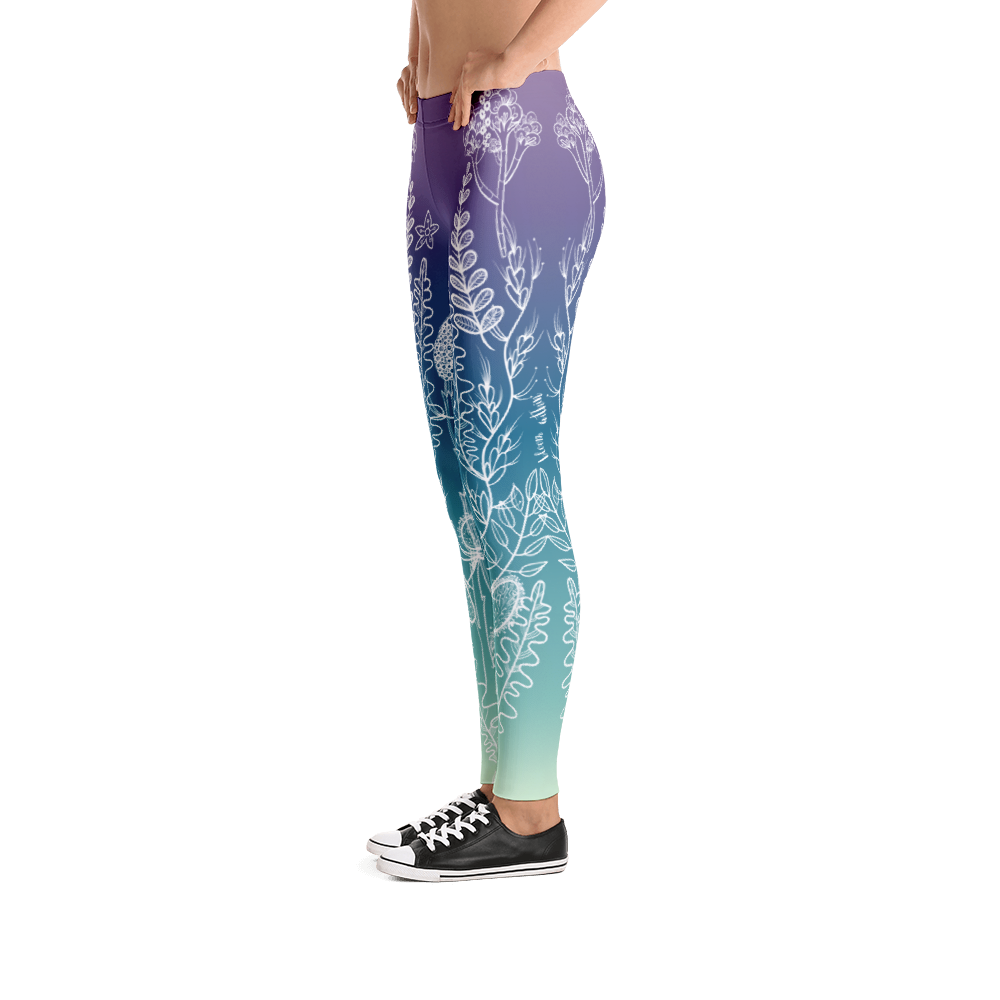 Vegan Leggings - Bloom Within - Side