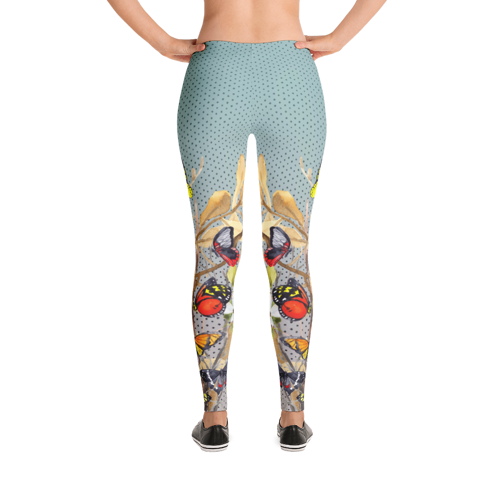 Vegan Leggings - Butterflies - Back