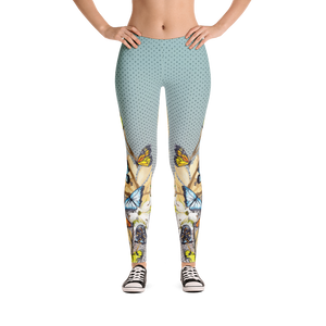 Vegan Leggings - Butterflies - Front