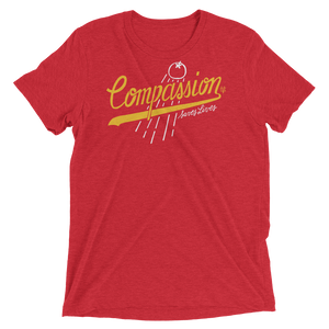 Vegan Shirt - Compassion Saves Lives - Red