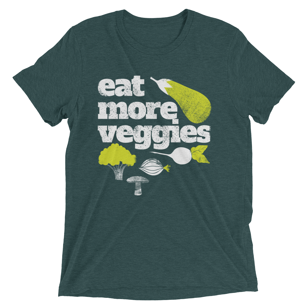 Vegan T-Shirt - Eat More Veggies and Greens - Emerald