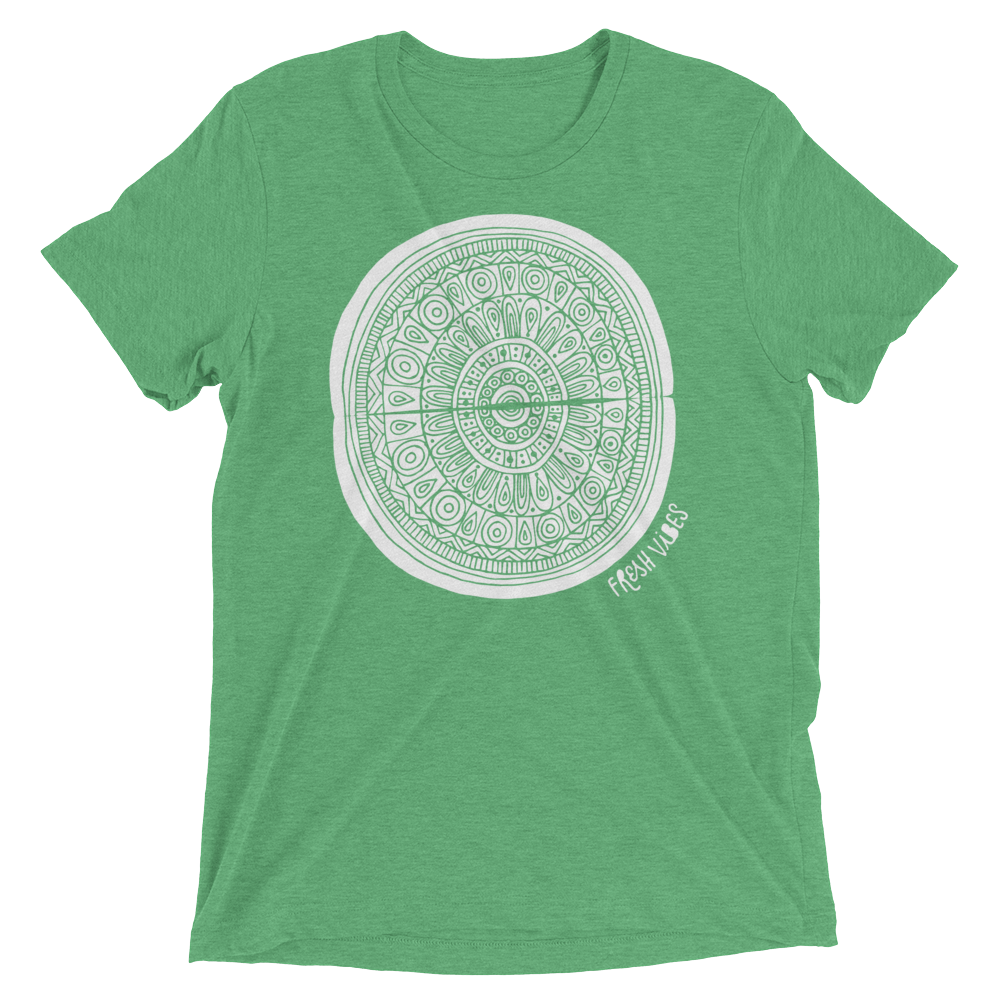 Vegan T-Shirt - Fresh vibes boho - Green