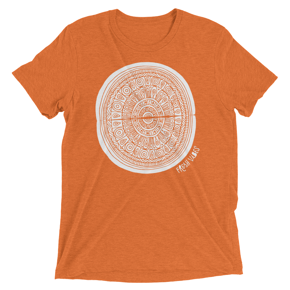 Vegan T-Shirt - Fresh vibes boho - Orange