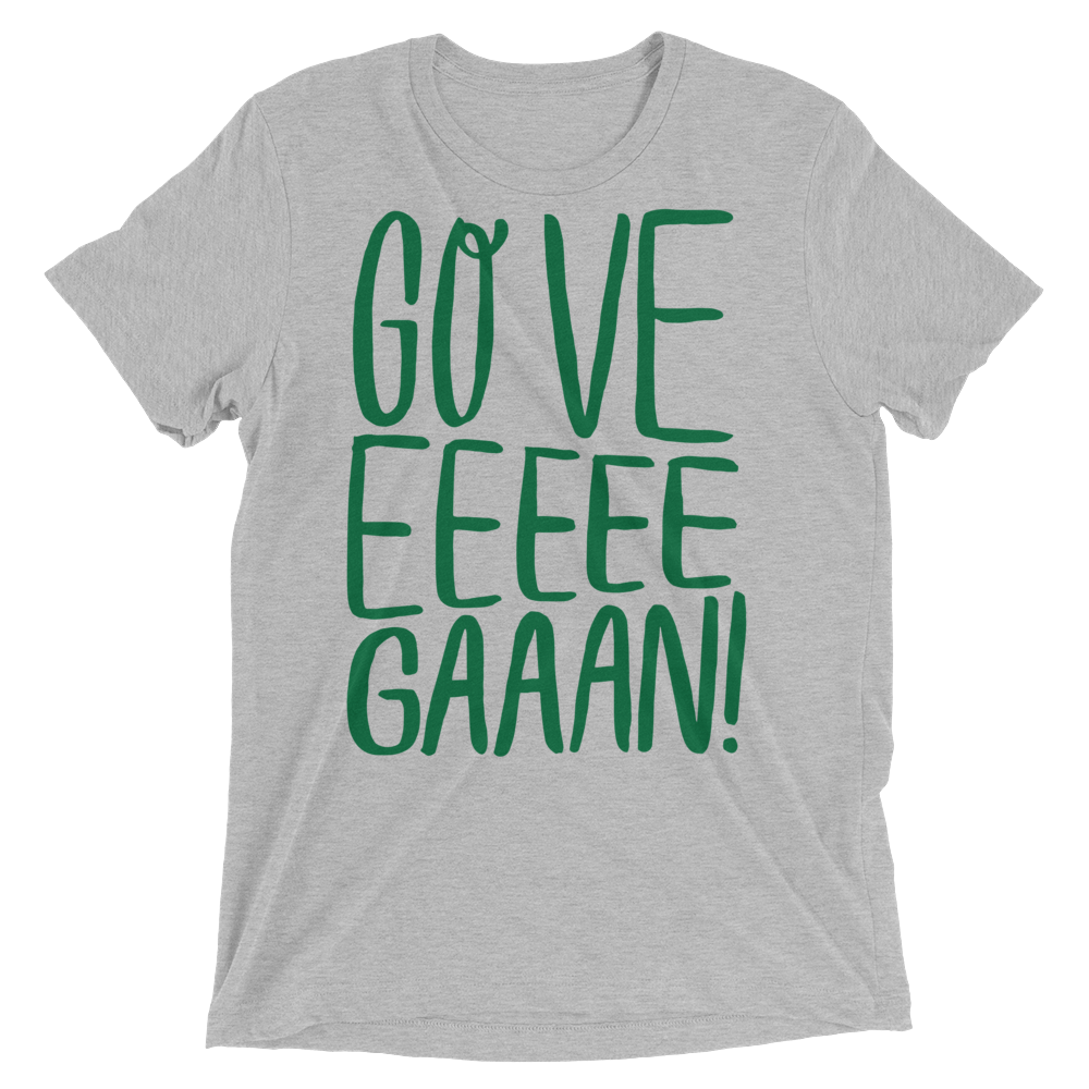 Vegan T-Shirt - Go Veeeegan - Athletic Grey