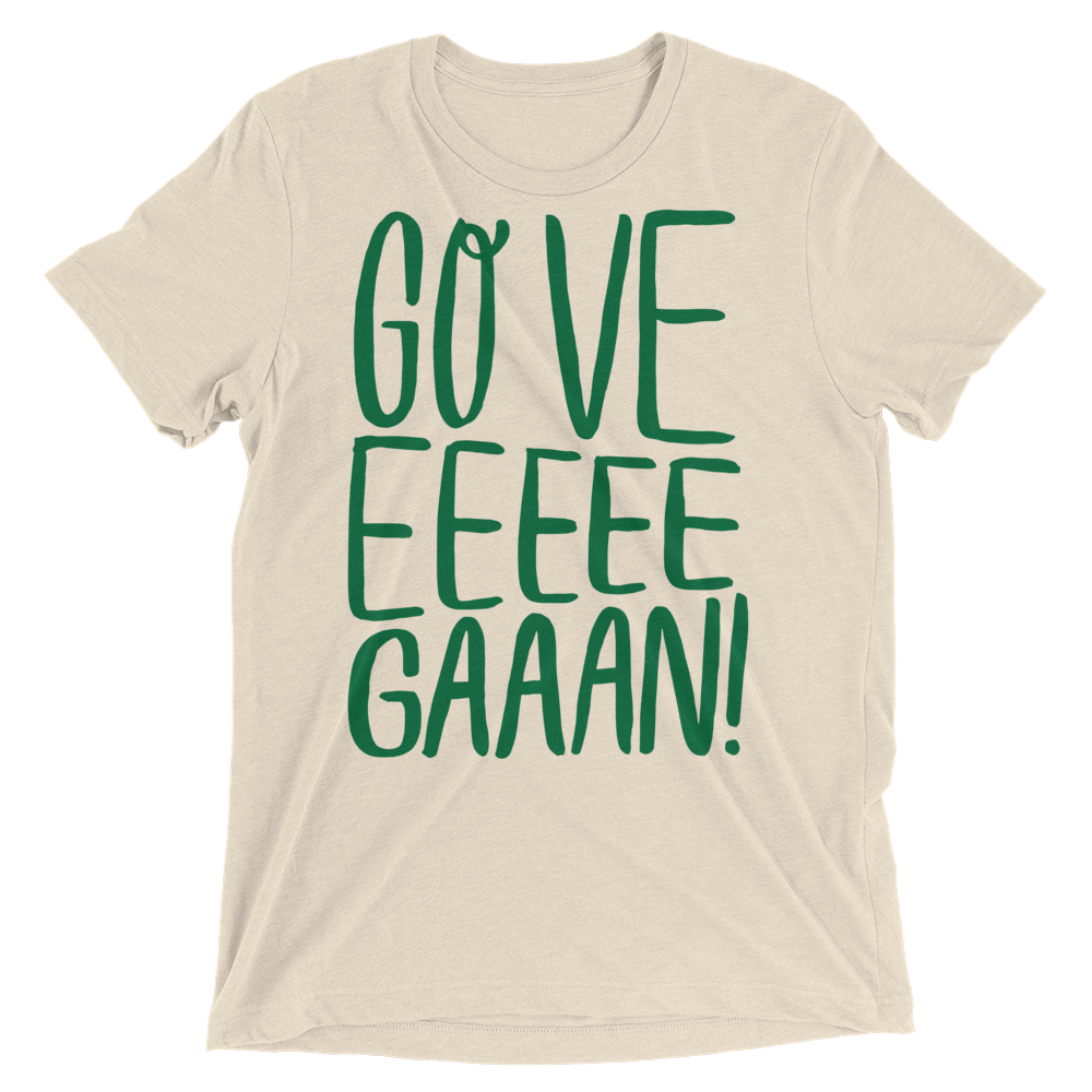 Vegan T-Shirt - Go Veeeegan - Oatmeal