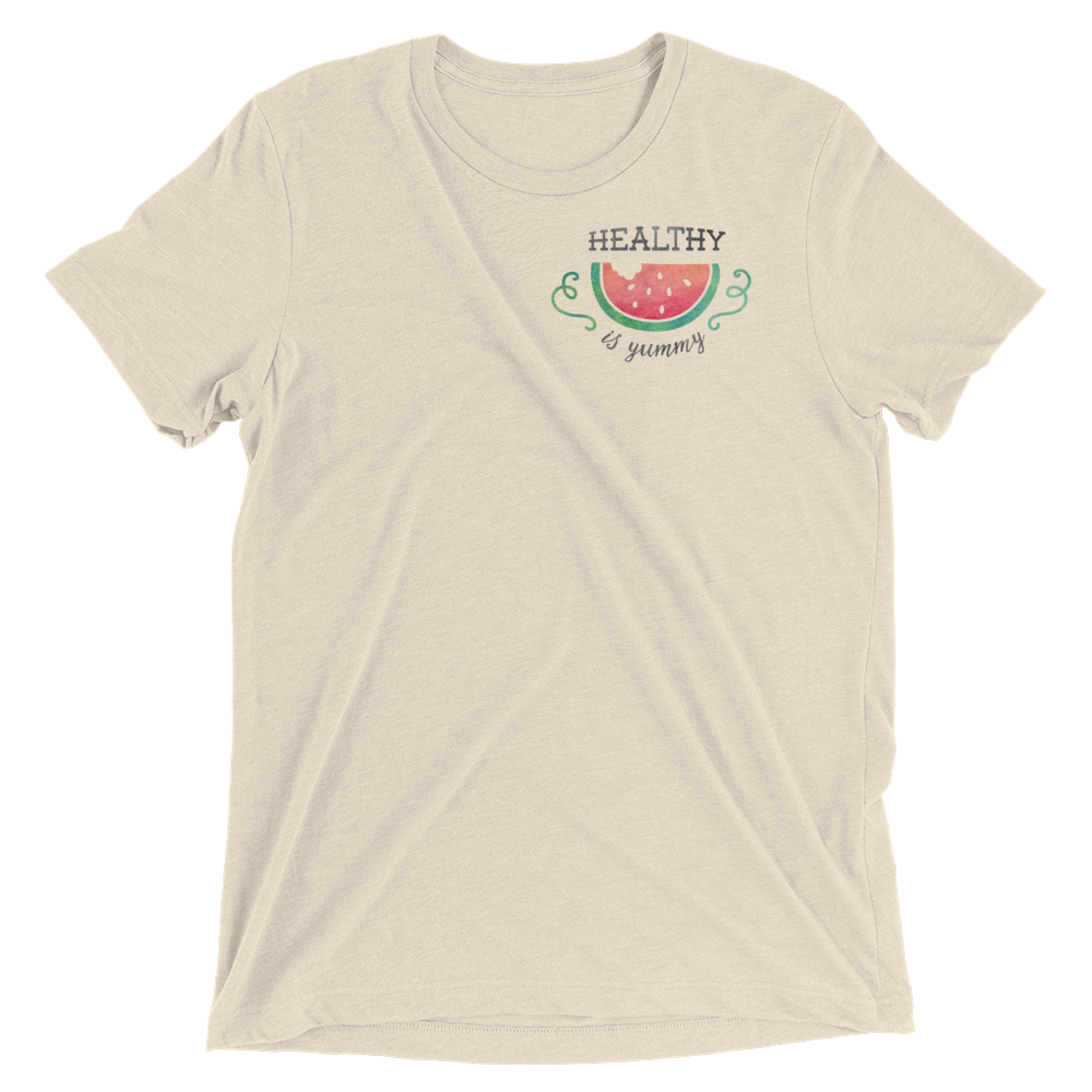 Vegan T-Shirt - Healthy is Yummy - Oatmeal