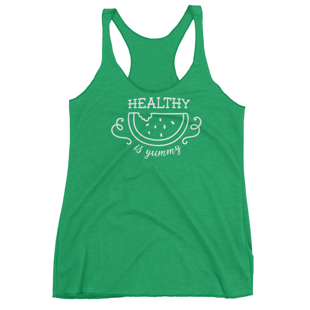 Vegan Tank Top - Healthy Is Yummy - Envy (Green)