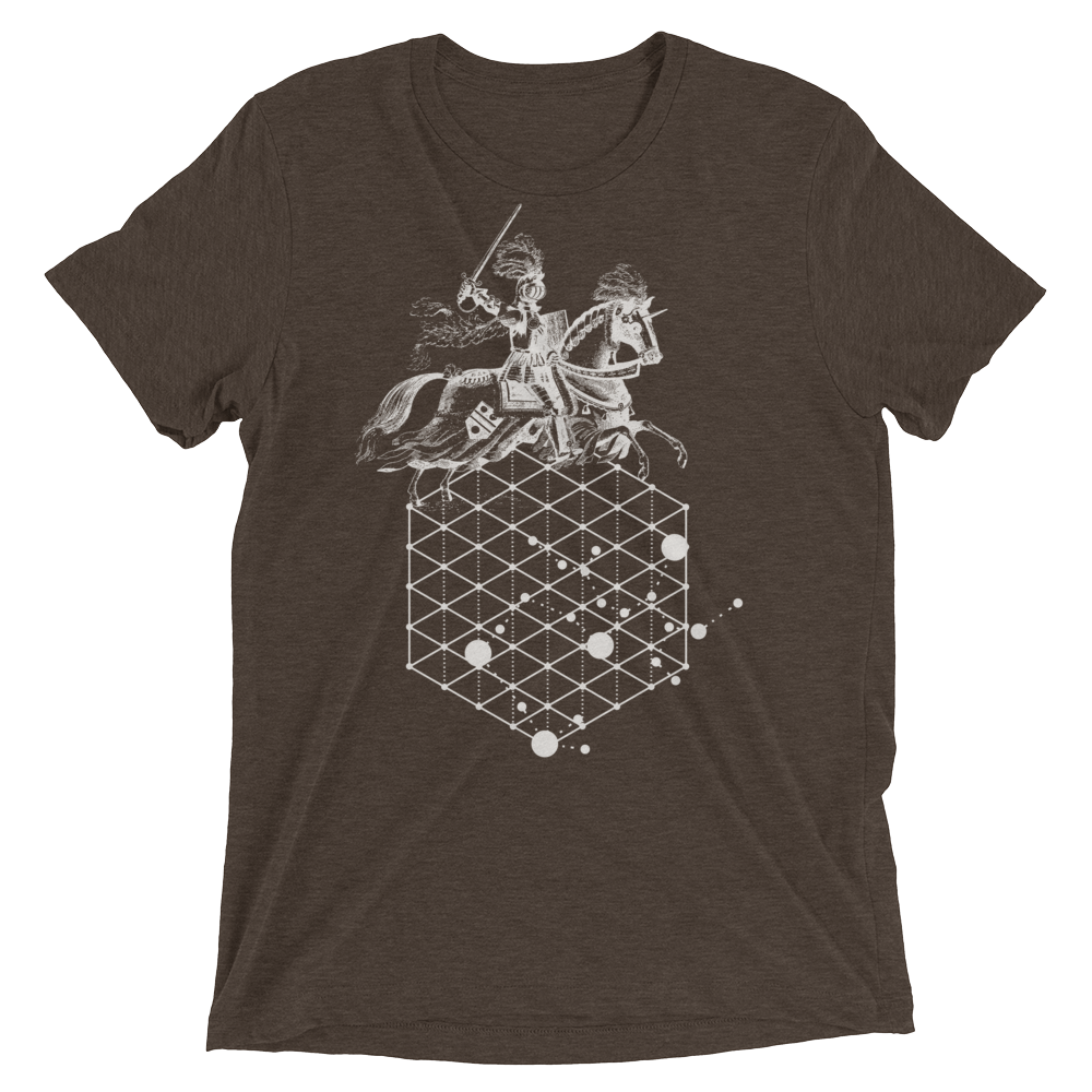 Sacred Geometry Shirt - Hexagonal Grid Horse - Brown