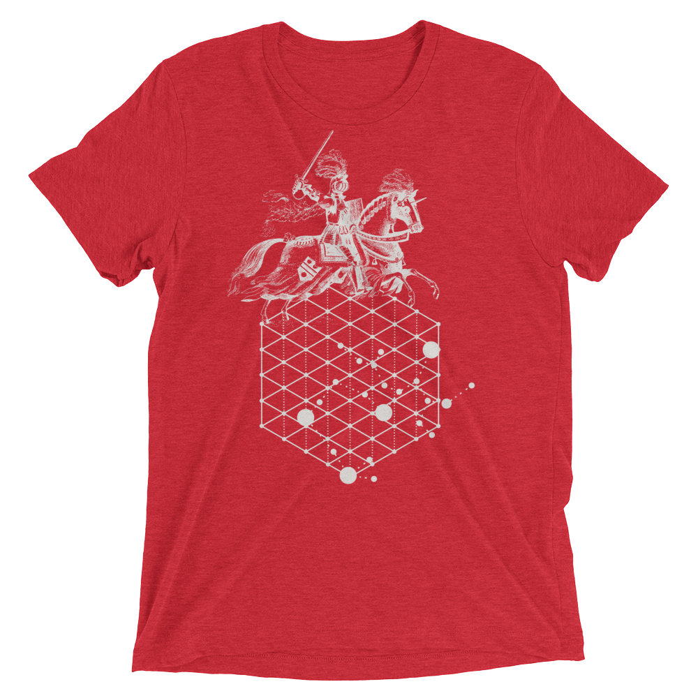 Sacred Geometry Shirt - Hexagonal Grid Horse - Red