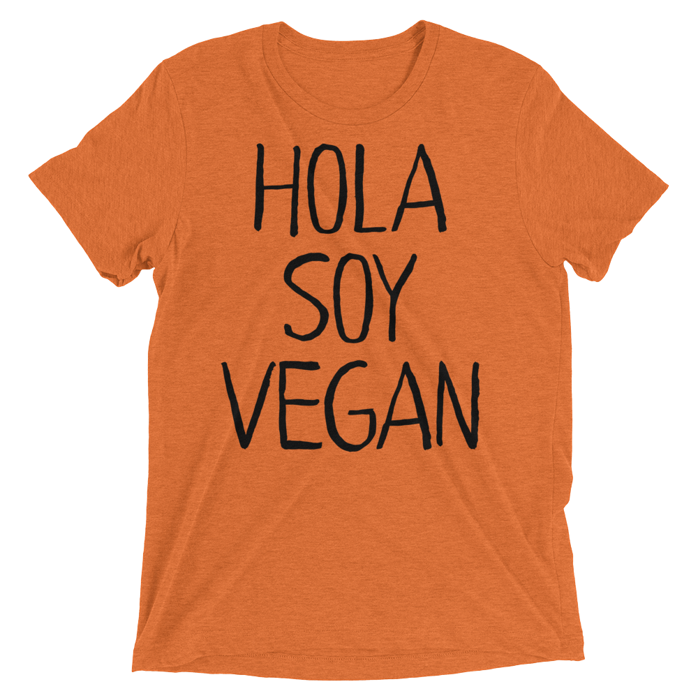 Vegan T-Shirt - Hola Soy Vegan - Orange