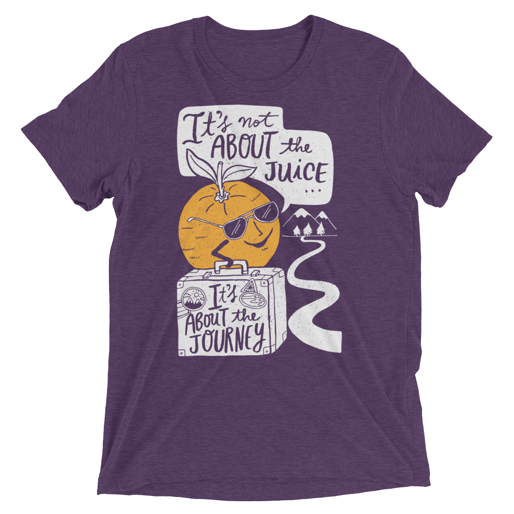 Vegan T-Shirt - It's About The Journey - Purple