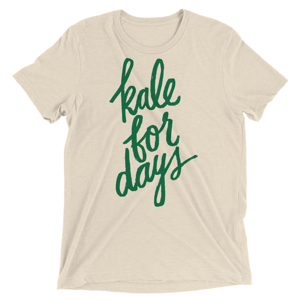 Vegan T-Shirt - Kale For Days - Oatmeal