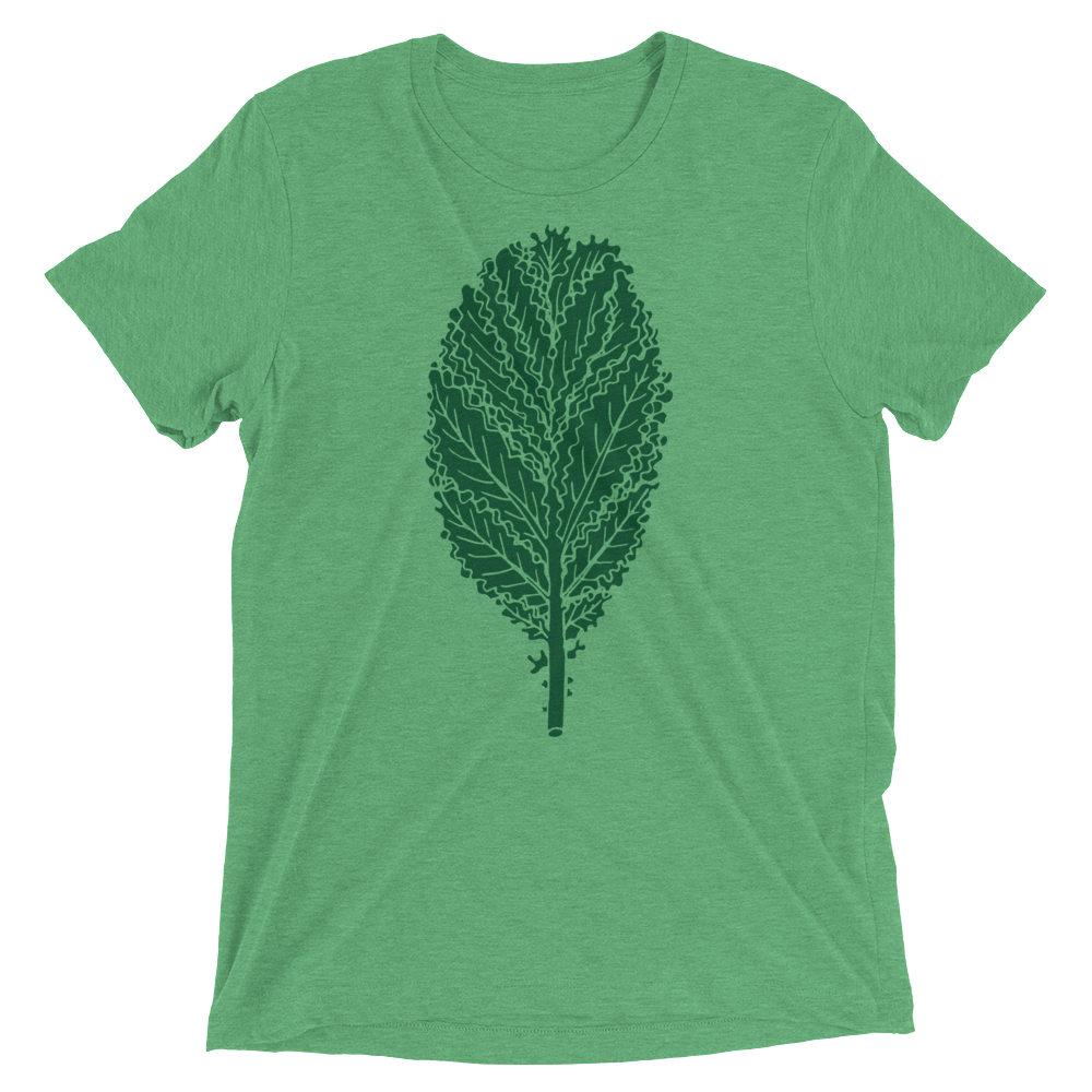Vegan T-Shirt - Kale Leaf - Green