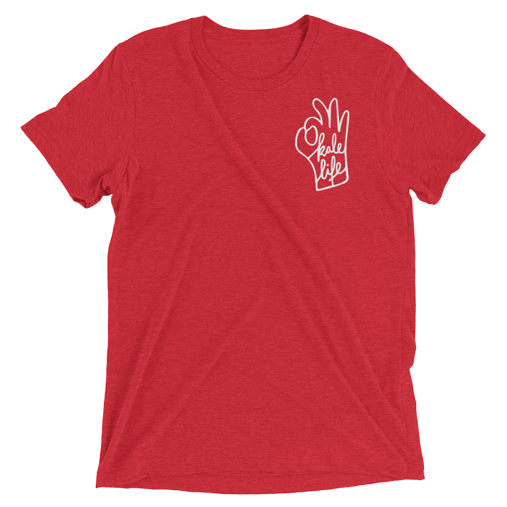Vegan T-Shirt - Kale Life - Red