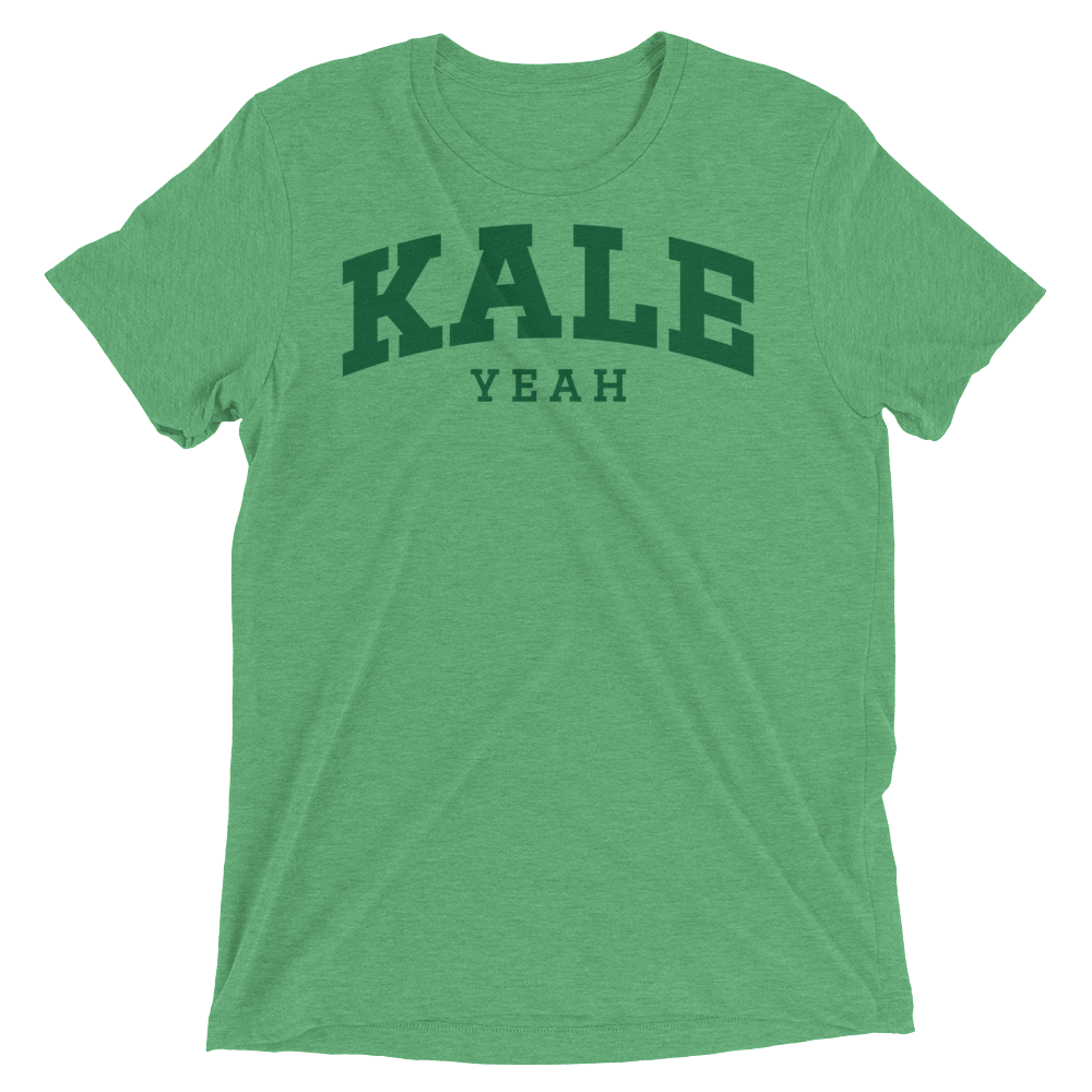 Vegan T-Shirt - Kale Yeah College - Green