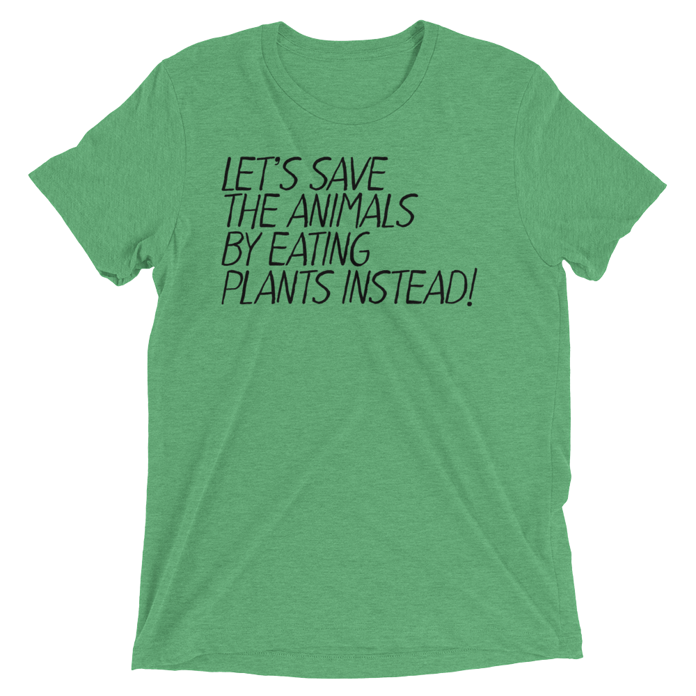 Vegan T-Shirt - Let's Save The Animals - Green
