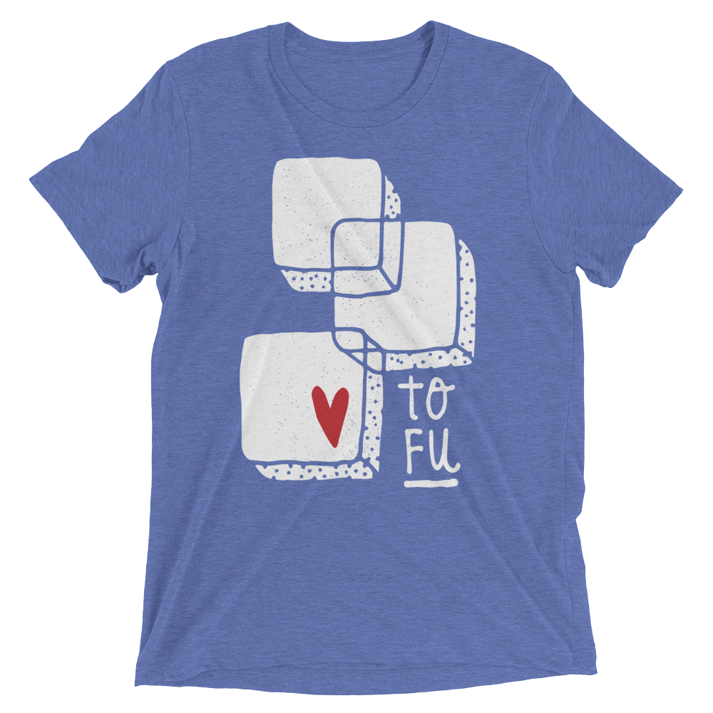 Vegan T-Shirt - Love Tofu - Blue