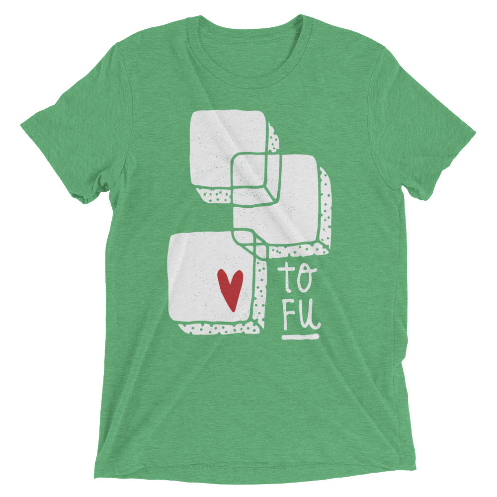 Vegan T-Shirt - Love Tofu - Green