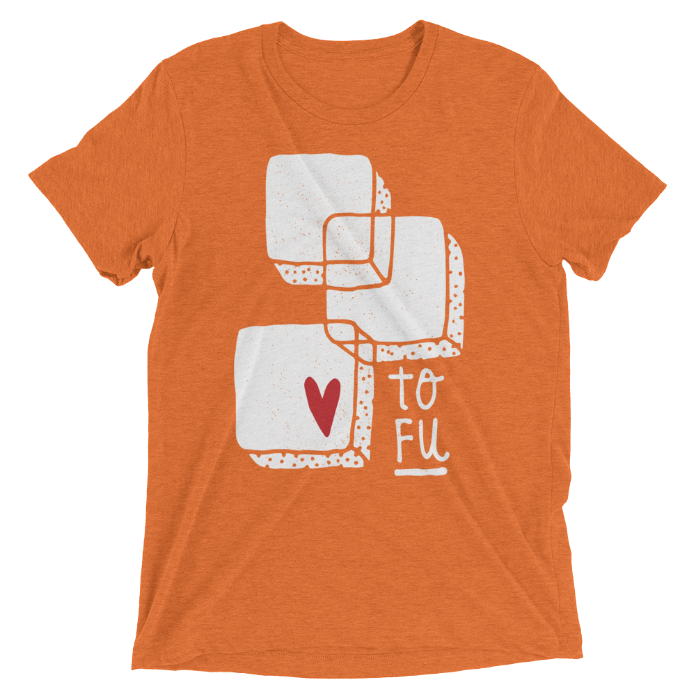 Vegan T-Shirt - Love Tofu - Orange