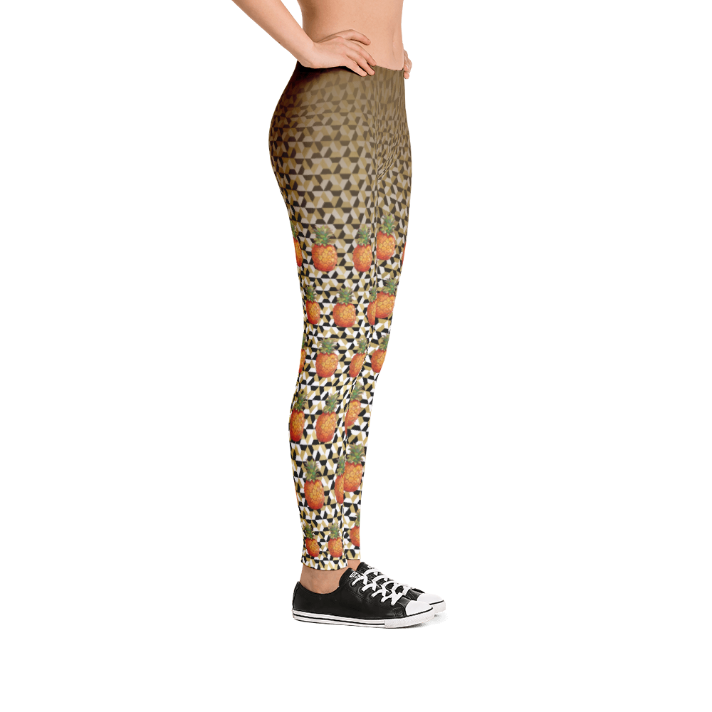 Vegan Leggings - Pineapples - Side
