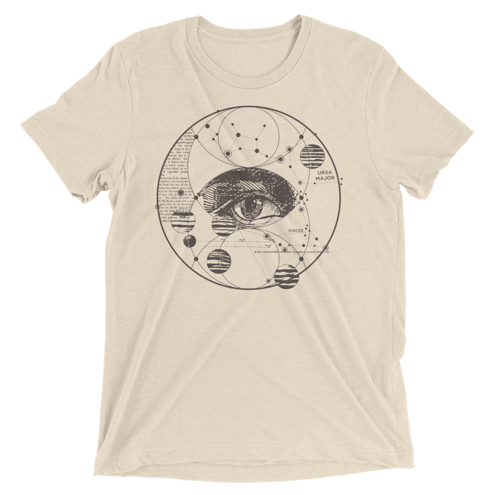 Sacred Geometry Shirt - Piscis Eye Trinity - Oatmeal