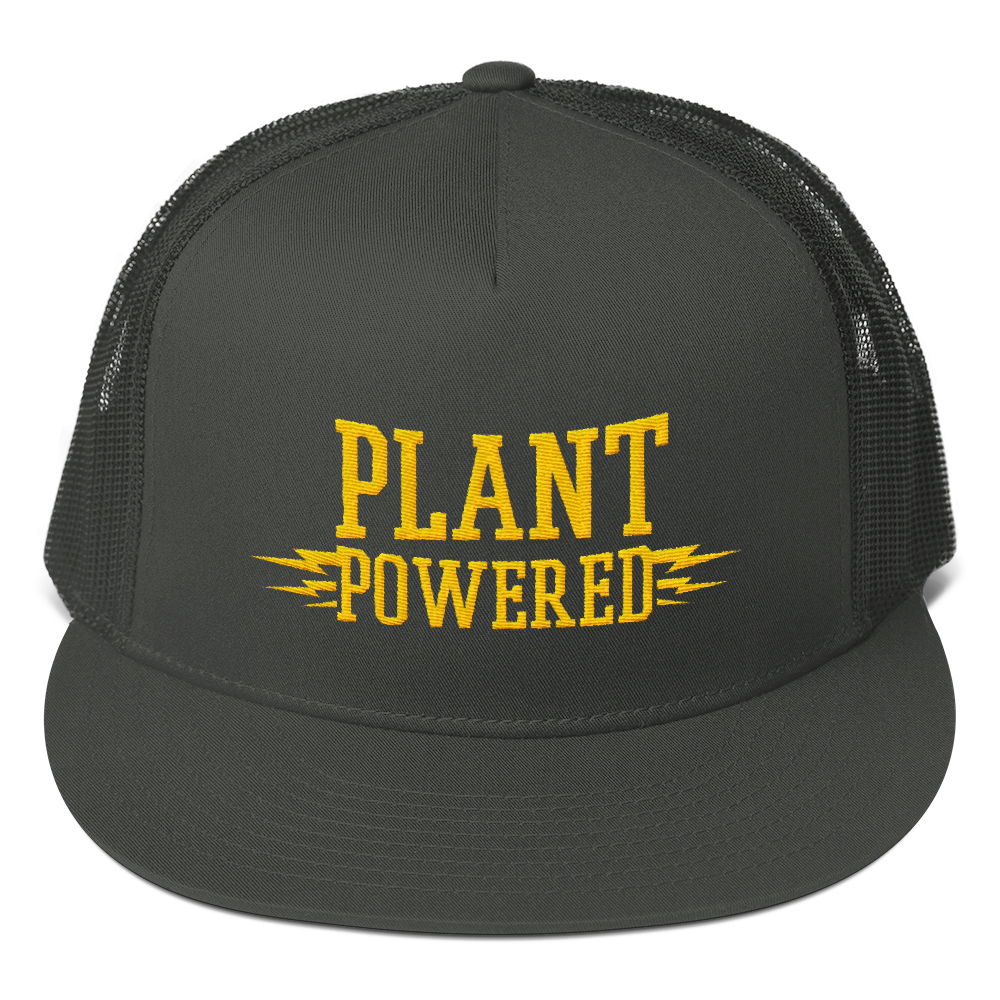 Vegan Trucker Hat - Plant Powered - Charcoal