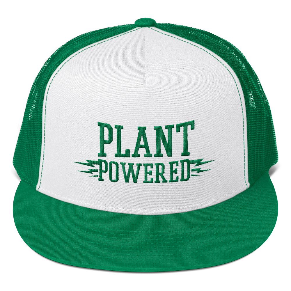 Vegan Trucker Hat - Plant Powered - Kelly Green