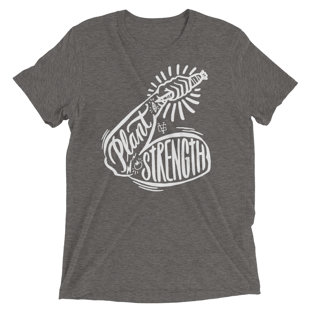 Vegan T-Shirt - Plant Strong - Grey