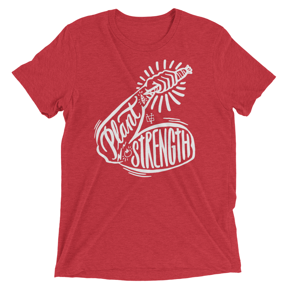 Vegan T-Shirt - Plant Strength - Red