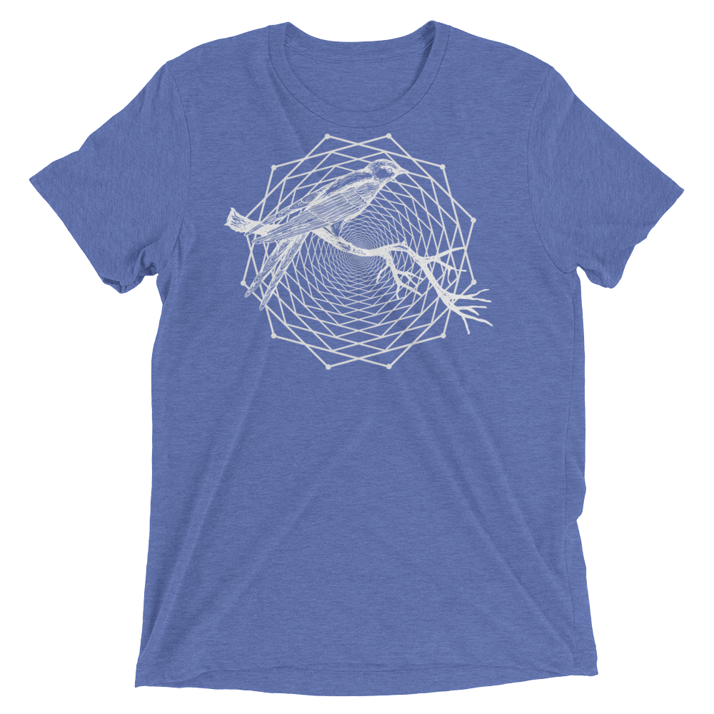 Sacred Geometry Shirt - Dodeca Fractal - Blue