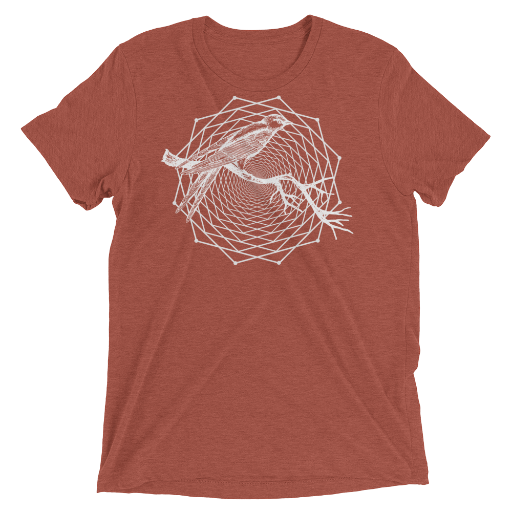 Sacred Geometry Shirt - Dodeca Fractal - Clay