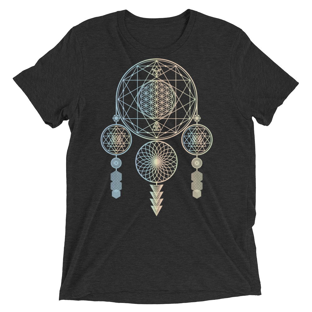 Sacred Geometry Shirt - Dreamcatcher - Charcoal Black
