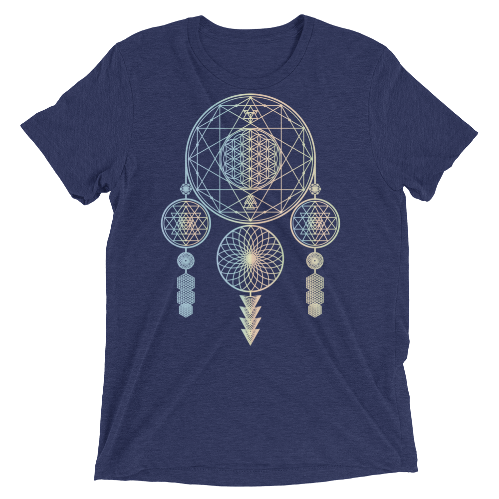 Sacred Geometry Shirt - Dreamcatcher - Navy