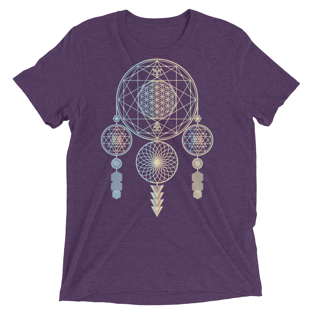 Sacred Geometry Shirt - Dreamcatcher - Purple