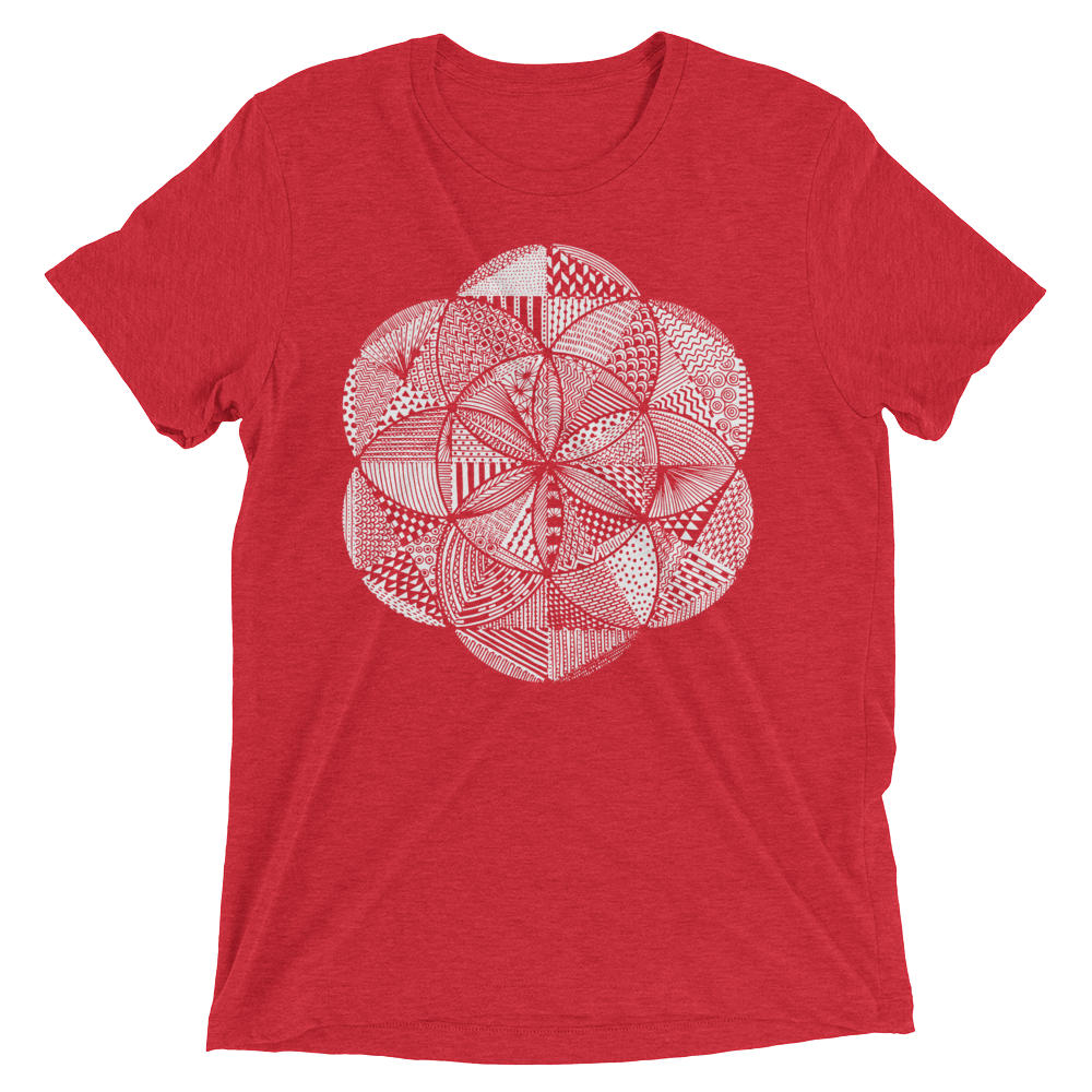 Sacred Geometry Shirt - Seed Of Life Boho - Red