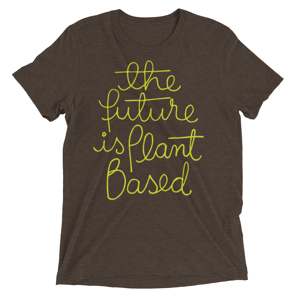 fb7590e430a Vegan T-Shirt - The Future Is Plant Based - Brown. Vegan T-Shirt - The  Future Is Plant Based - Brown