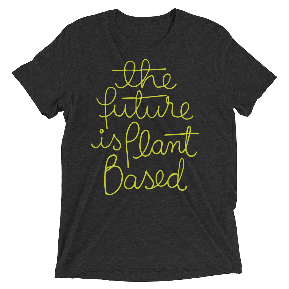 Vegan T-Shirt - The Future Is Plant Based - Charcoal Black