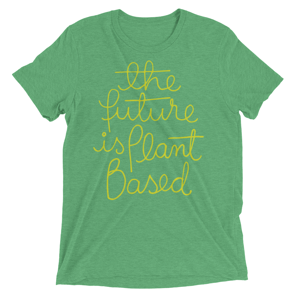 Vegan T-Shirt - The Future Is Plant Based - Green