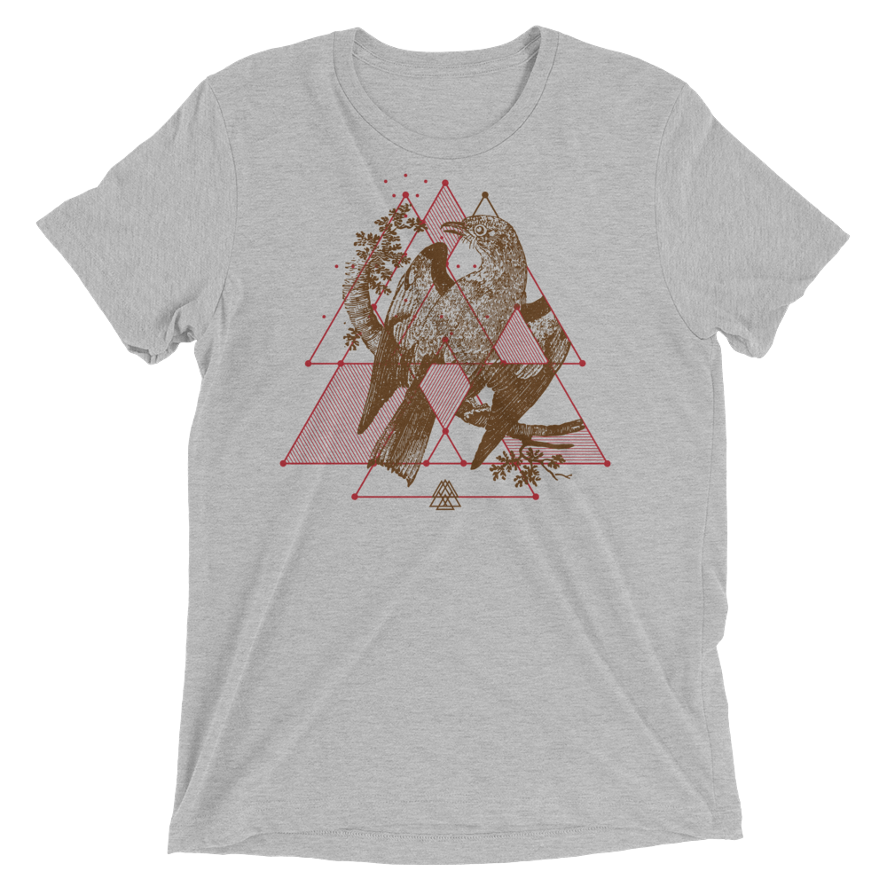 Sacred Geometry Shirt - Triangular Overlays - Athletic Grey