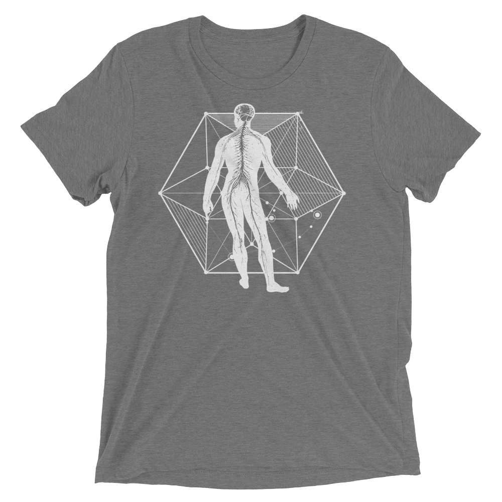 Sacred Geometry Shirt - Vector Equilibrium - Grey