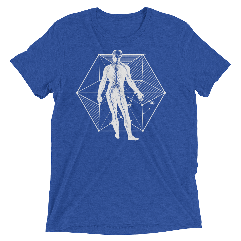 Sacred Geometry Shirt - Vector Equilibrium - True Royal
