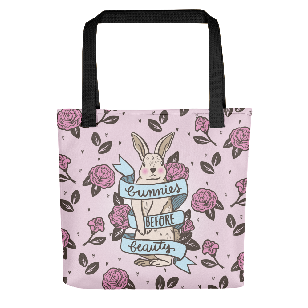 Vegan Bag - Vegan Tote Bag - Bunnies before Beauty