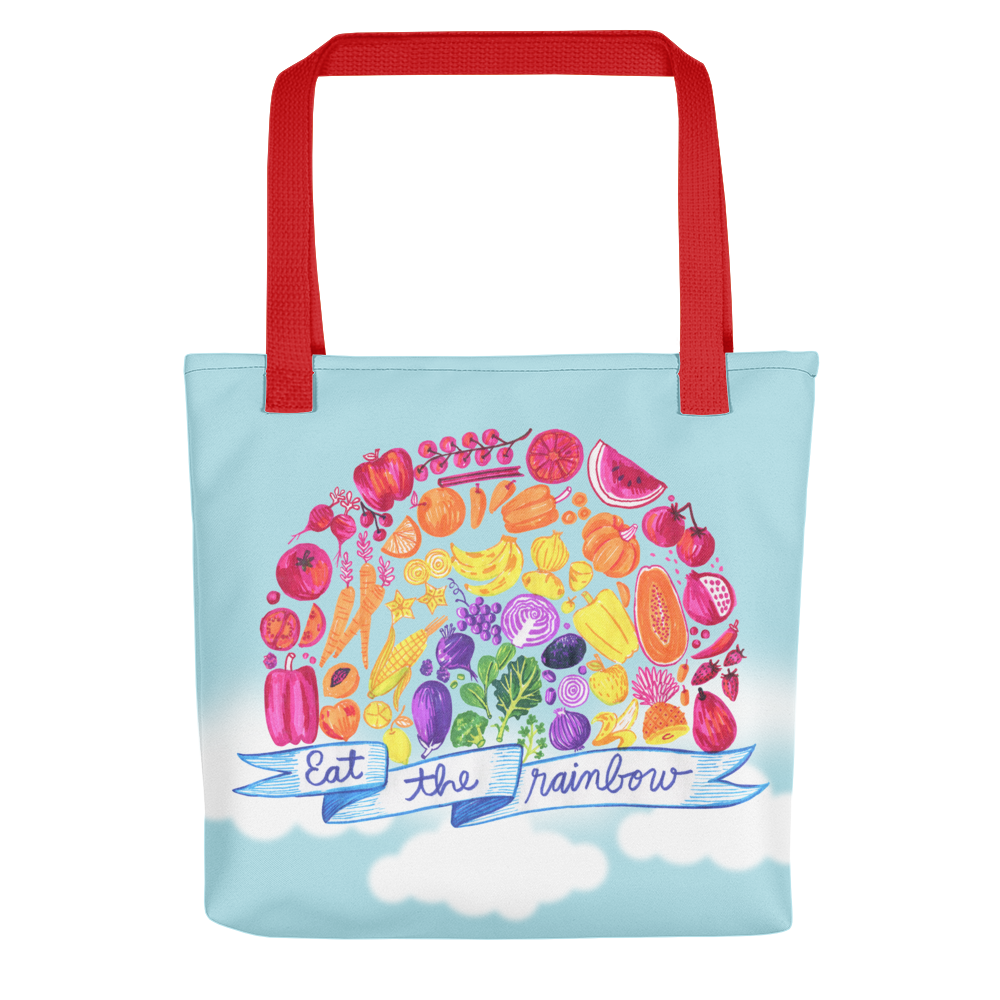 Vegan Bag - Vegan Tote Bag - Eat the Rainbow - front